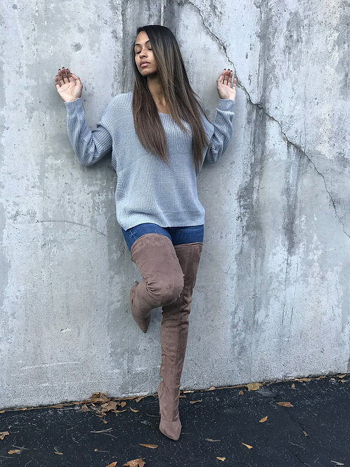 Blue Back tie Sweater