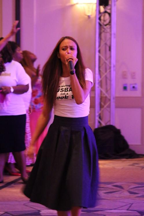Custom Denim Flare Skirt