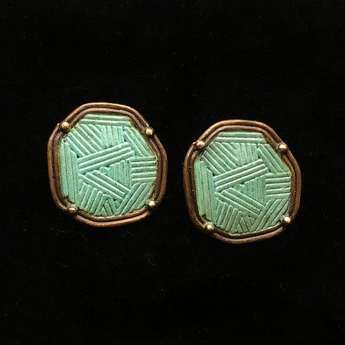 Sheild Earrings Bronze