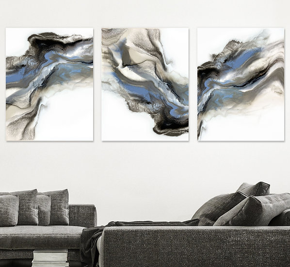 Grey Smoke - Triptych