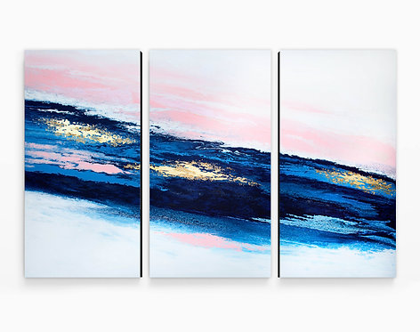 Receiving Triptych Canvas Print