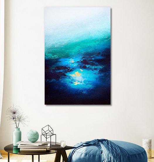 Under Great Depths Canvas Print