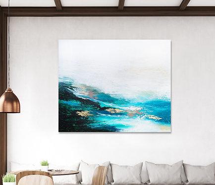 Verdant Wave Canvas Print