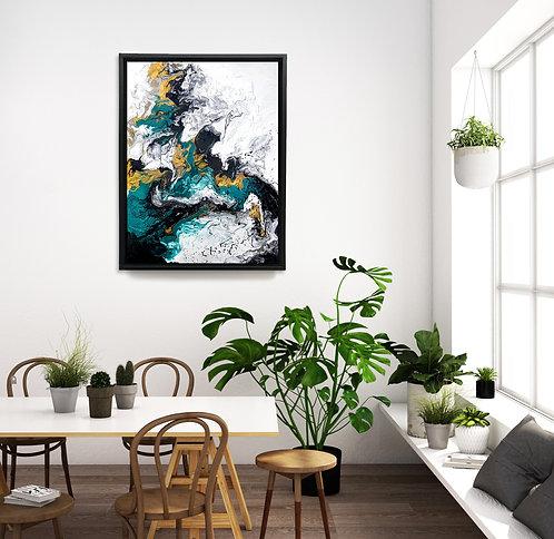 Bronzing Green Canvas Print