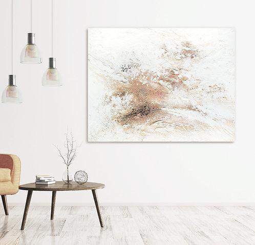 Journey Of Snow Canvas Print