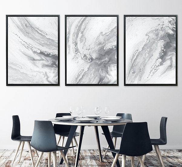 Marble Grey - Triptych