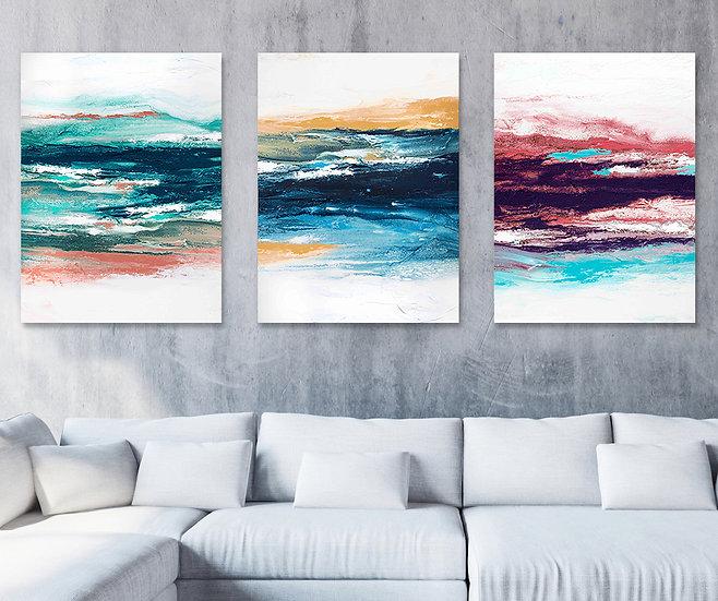 Rainbow Stripes - Triptych