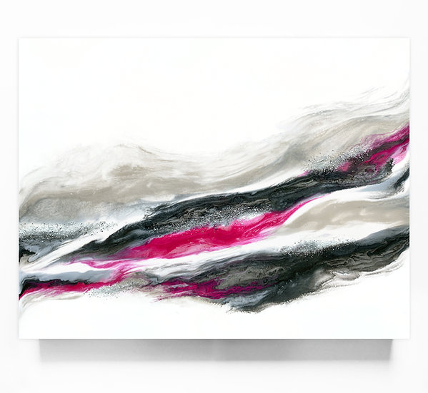 Fuschia And Silver Wave *Paint To Order