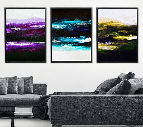 Dark Colorful Light - Triptych