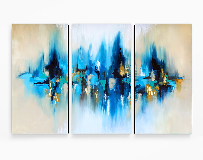 Reflection Triptych Canvas Print