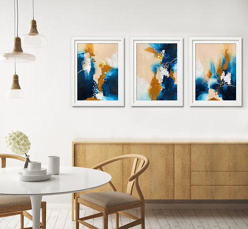"""""""Harvest Reflections"""" - Three Panel Paper Series"""