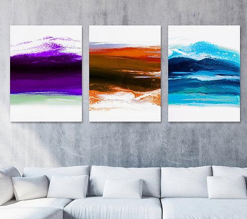 Rainbow Wave - Triptych