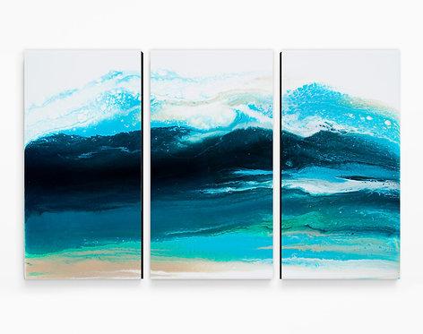 Risen Triptych Canvas Print