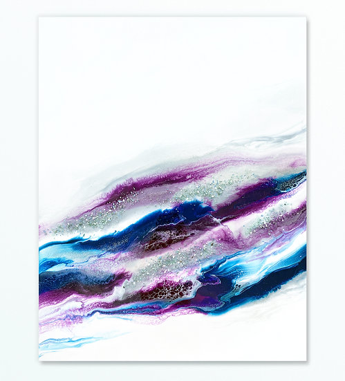 Blue And Purple Wave *Paint To Order