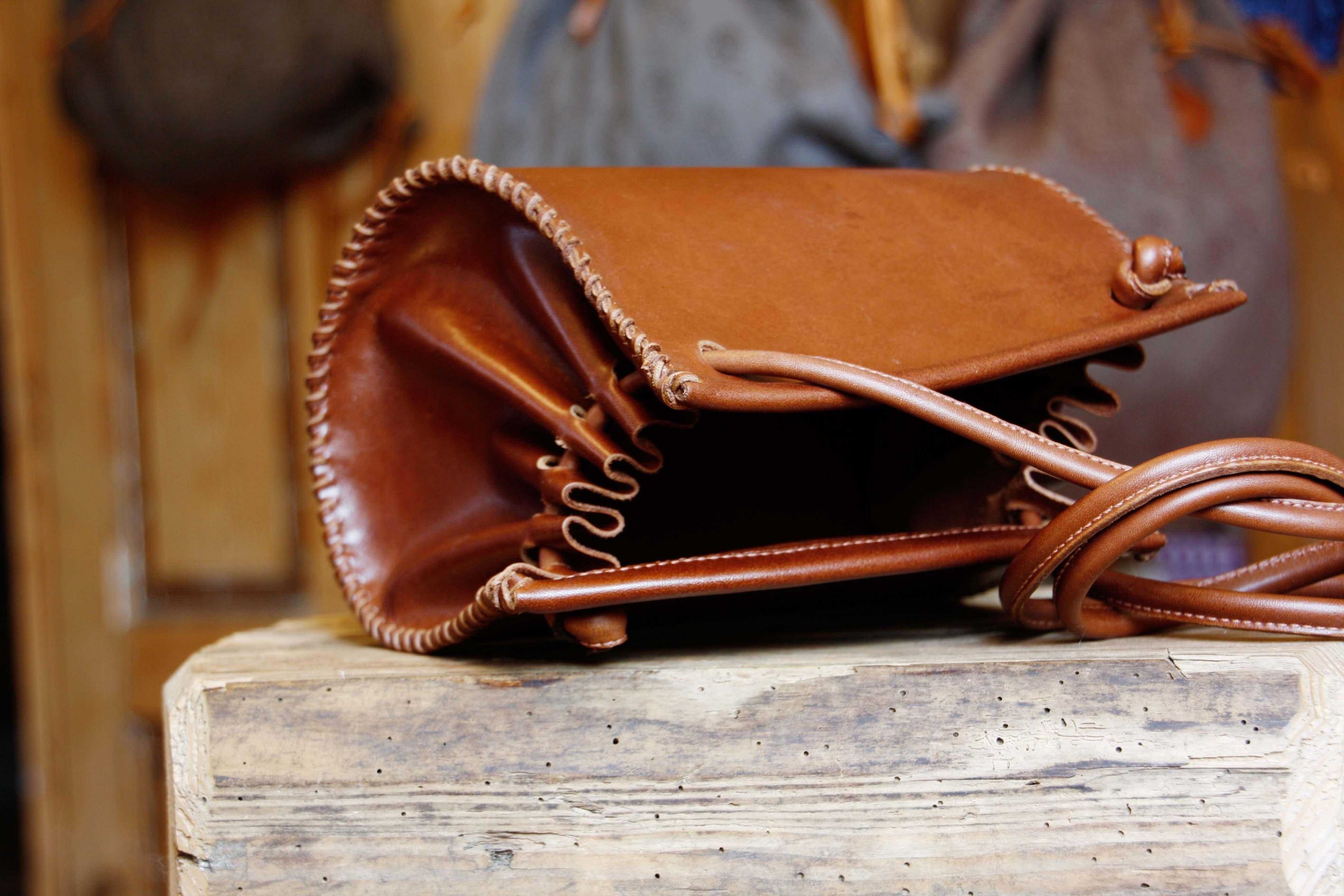 Lederhandtasche klein