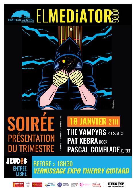 18/01/18 Présentation prog + Expo & concerts : The Vampyrs & Pat Kebra à El Médiator, Perpig