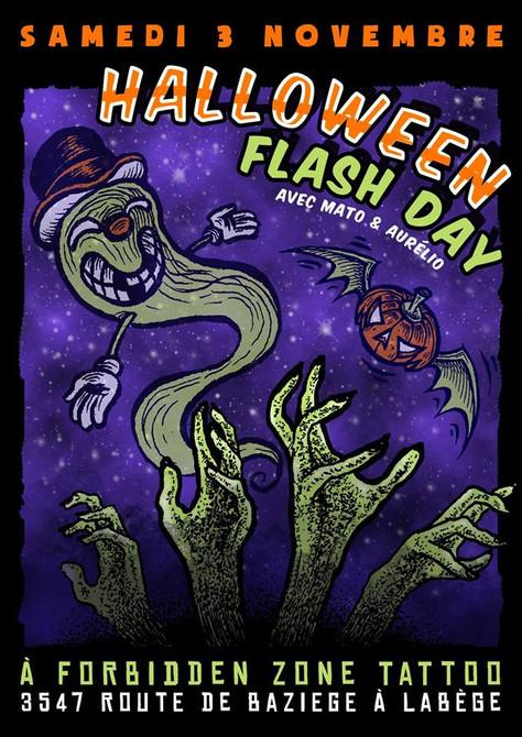 03/11/18  Aurélio & Mato présente, Flash Day à Forbidden Zone Tattoo, Labège(31).