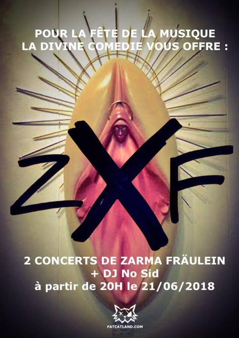 21/06/18 Zarma Fräulein Live, Défaite de la musique à La Divine Comédie, Perpignan(66).
