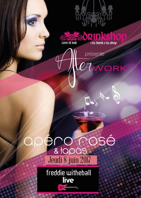 Freddie Whiteball live. Soirée Rosé prix cave & Tapas 8/06 au Drinkshop Saint-Estève, Fr