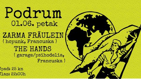 01/06/18, Live Zarma Fräulein / the Hands au Škatula, Rijeka, Croatia.