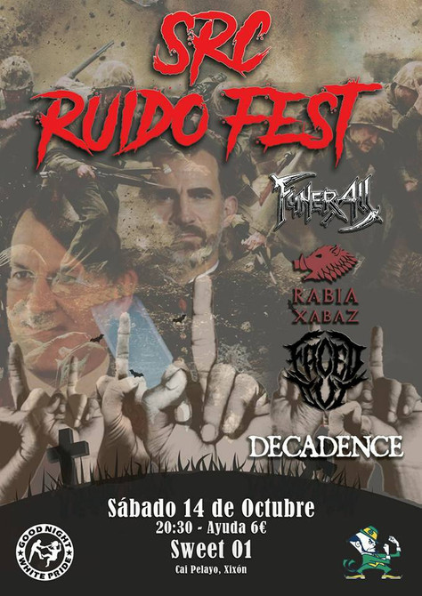 14/10 Rabia Xabaz - Live - SRC Ruido Fest, Gijón, Spain.