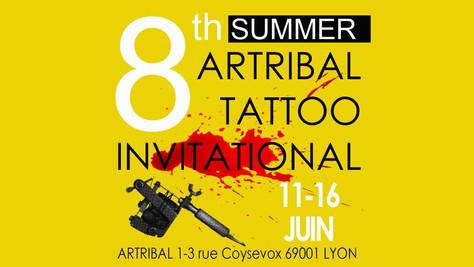 11/06 au 16/06 Aurélio à The 8th Artribal Summer Tattoo Invitational, Lyon(69).