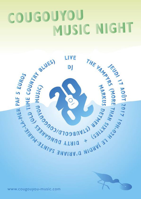 17/08 Concert THE VAMPYRS.                   The Cougouyou Music nighten, au Vingt sur Vingt.