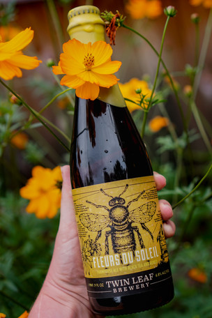 Fleurs Du Soleil: a farmhouse ale brewed with black tea and our brewery's beehives wins Silver i