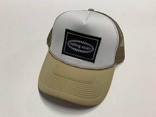 Nothing Usual® Collection - Mesh Hat (Tan/White)