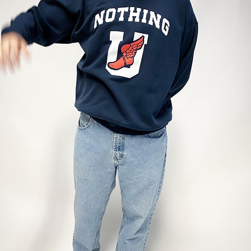 Nothing Usual® Collection - U Wing Crewneck - Washed Navy