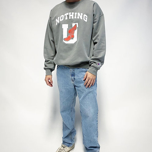 Nothing Usual® Collection - U Wing Crewneck - Concrete
