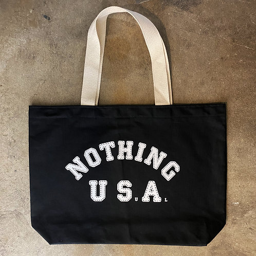 Nothing Usual® Collection - USA Tote Bag - Black/White