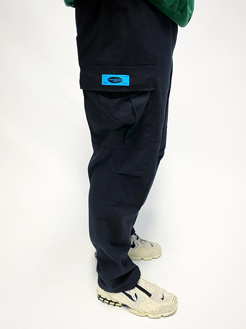 Nothing Usual® Collection - Rip Stop Cargo Pants. (Black)