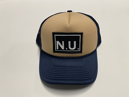 Nothing Usual® Collection - Mesh Hat (Navy/Mushroom)