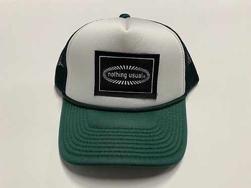 Nothing Usual® Collection - Mesh Hat (Forest Green/White)