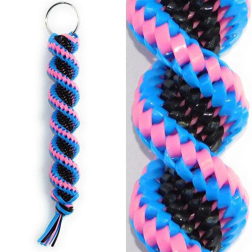 Blue, Black & Pink KeyChain