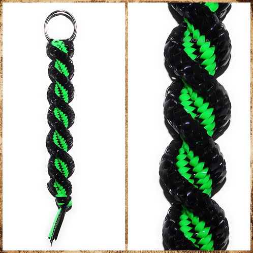 Black & Neon Green Keychain