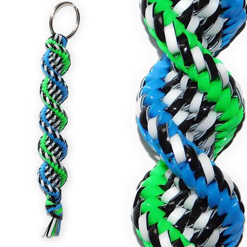Black/White, Neon Green & Neon Blue KeyChain
