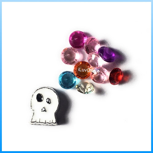 Ghost Floating Memory Locket Charm + Gems