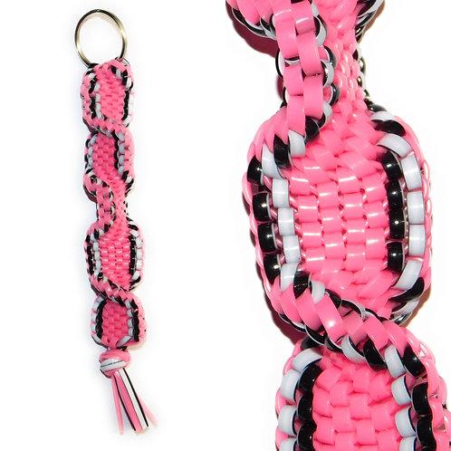 Black/White & Pink KeyChain