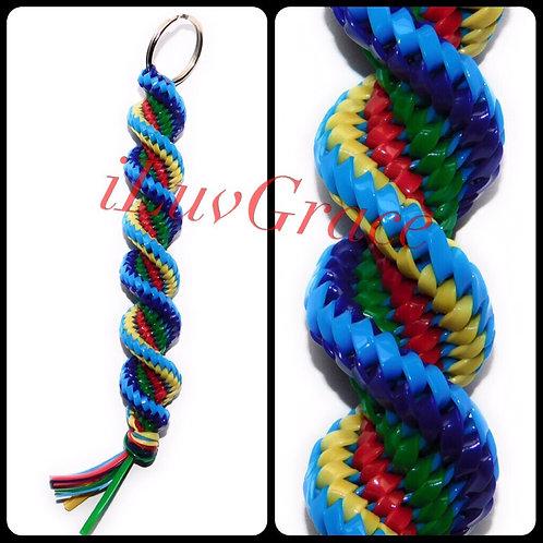 Blue, Yellow, Red, Green Purple Keychain