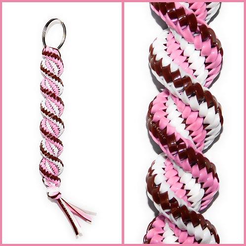 Brown, Light Pink & White KeyChain