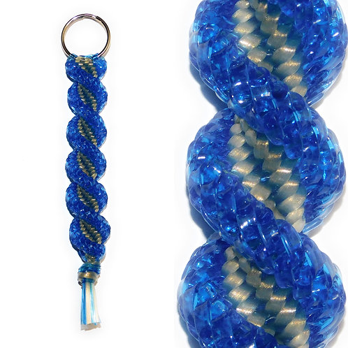 Clear Blue & Gold KeyChain