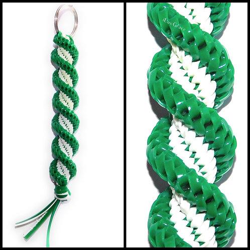 Green & White KeyChain