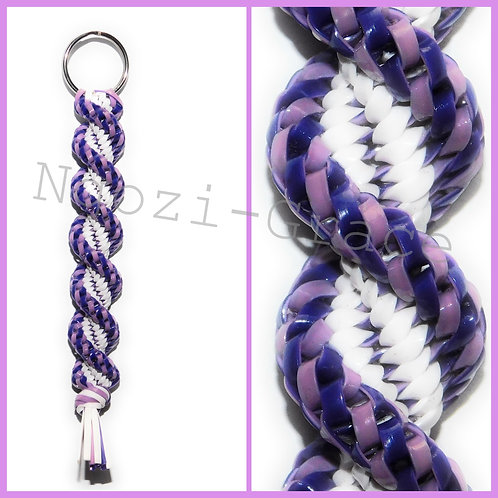 Pink/Purple & White Keychain