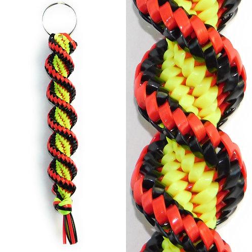 Neon Yellow, Black & Red KeyChain