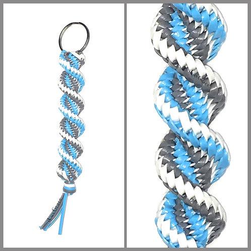 Grey, Light Blue & White KeyChain