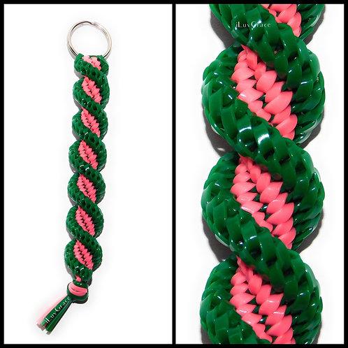 Green & Neon Pink KeyChain
