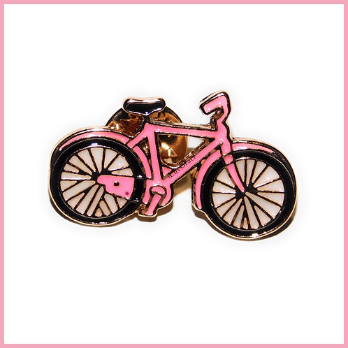 Pink Bike Enamel Pin