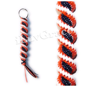 Orange, Navy Blue & White Keychain
